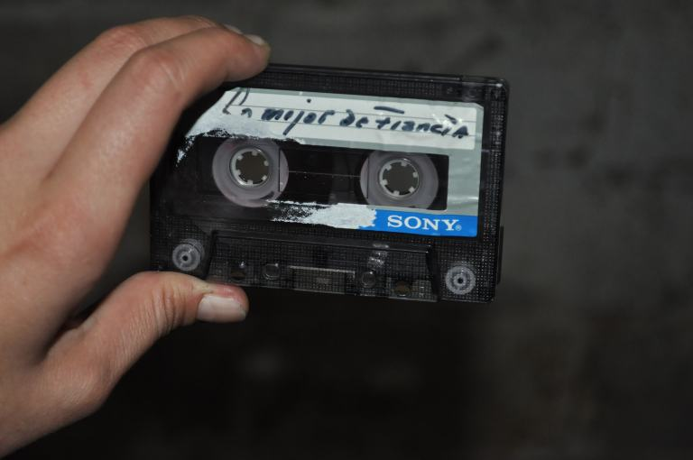 Stealing a cassette and play it all the way trough no matter the music