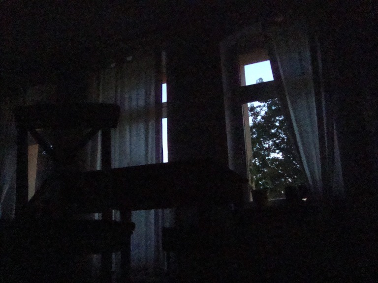 Taking a photo of the window at  4.17 am