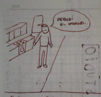 Describing a situation with a drawing