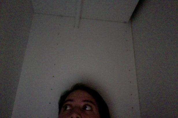 Taking a picture inside de closet/wardrobe