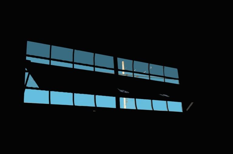Window Landscape Gradient of Blue