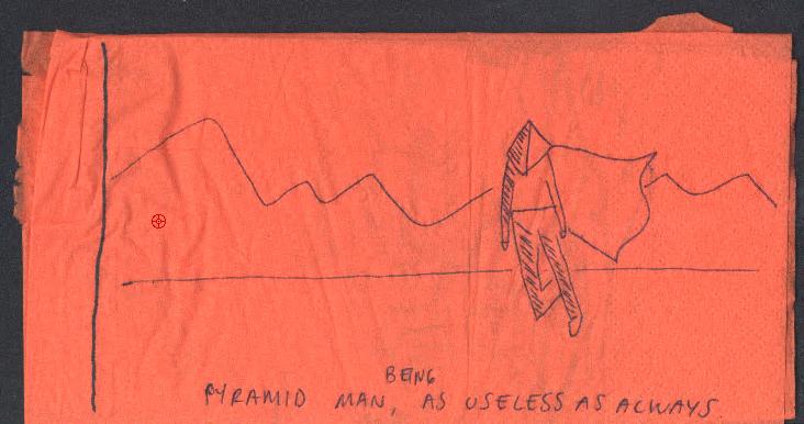 The useless pyramid man