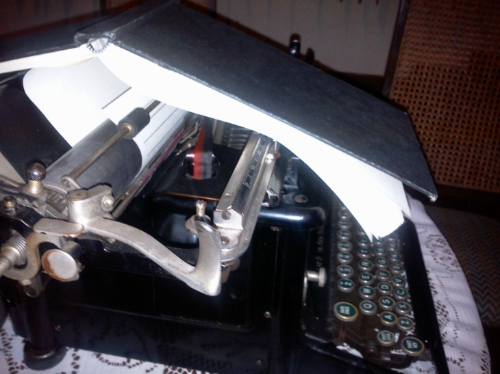 Last attempt to write on the old typewriter.