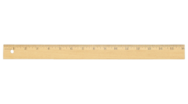 Choosing a kind of ruler that I prefer: wooden.