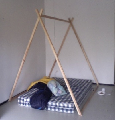 Building the structure to my room in a living room. Upon the decisions of dwelling.