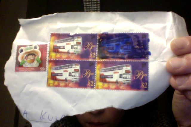 Trying to block a stamp from a received letter