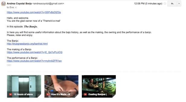 Making a Theme'd e-mail The Banjo