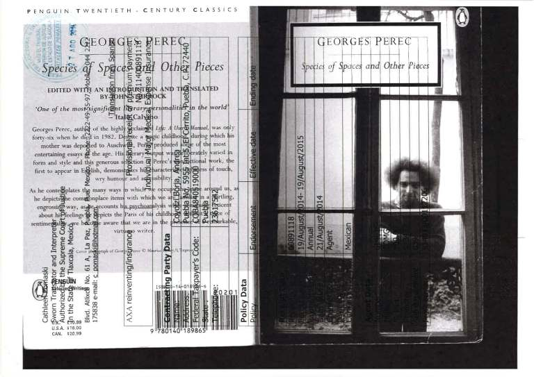 Stupid project. Bidimensional space for Perec.