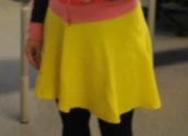 Posting a Yellow Skirt